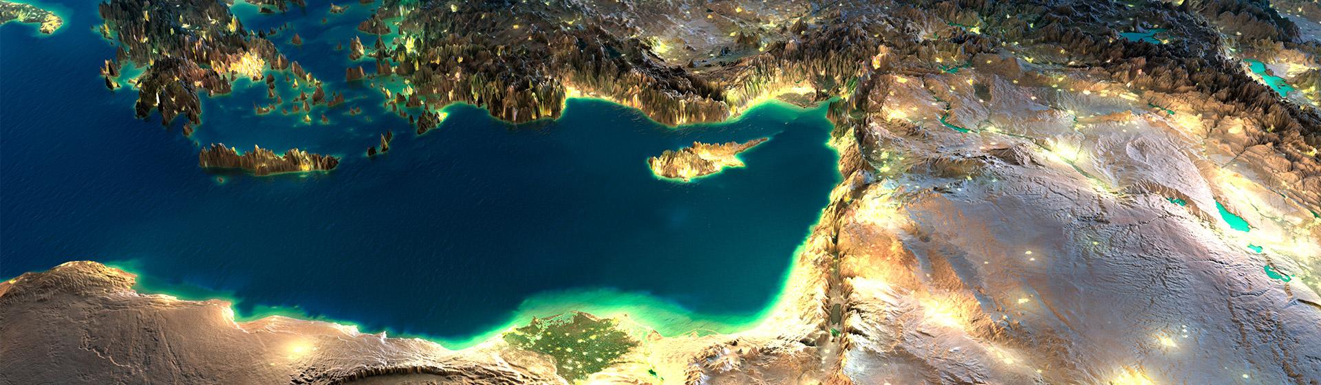 מפה תלת מימדית - טורקיה מלמעלה