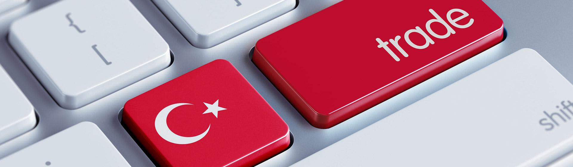 מקלדת מחשב עם דגל טורקיה