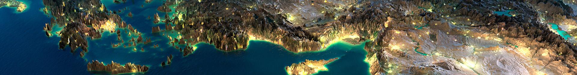 טורקיה במבט מלמעלה (תלת מימד)