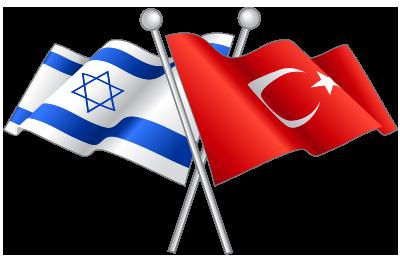 Flag of Israel and Turkey