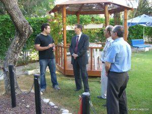 Bakan Yitzhak Hertzog ve Eyal Peretz Cobalt Ticaret Genel Müdürü