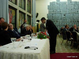 Ahmet Necdet cumhurbaşkanı Ve Moşe Ktzav Israil cumhurbaşkanı ve Eyal Peretz Cobalt Ticaret Genel Müdürü