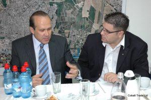 Türkiye Büyükelçi Namik Tan ve Eyal Peretz Cobalt Ticaret Genel Müdürü