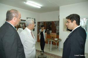 Türkiye Büyükelçi Feridun H. Sinirlioğlu ve Dr. Ercan Özer Büyükelçi ve Eyal Peretz Cobalt Ticaret Genel Müdürü