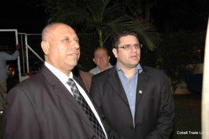 Bakan Raleb Majadla ve Eyal Peretz Cobalt Ticaret Genel Müdürü