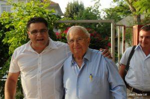 Israil Cumhurbaşkanı Yitzhak Navon ve Eyal Peretz Cobalt Ticaret genel Müdürü