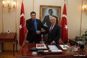 kadıköy Belediye başkanı Av.Selami Öztürk ve Eyal Peretz Cobalt Ticaret Genel Müdürü