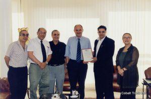 Türkiye Büyükelçi Feridun H. Sinirlioğlu ve Eyal Peretz Cobalt Ticaret Genel Müdürü